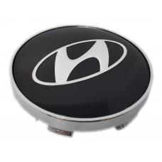 Hyundai 60mm fekete felni kupak 1db