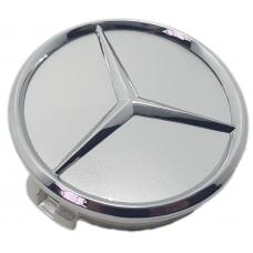 Mercedes 60mm ezüst felni közép 1db
