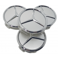Mercedes 60mm ezüst felni közép 4db