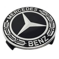 Mercedes 75mm fekete felni kupak 1db
