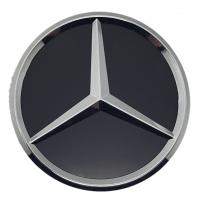 Mercedes 75mm fekete matt felni közép 1db