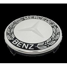 Mercedes 75mm fekete króm felni kupak 1db
