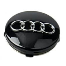 Audi 60mm fekete felni kupak 1db