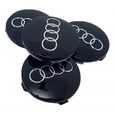 Audi 60mm fekete felni kupak 4db