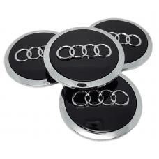 Audi 69mm fekete felni kupak 4db