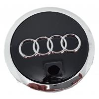 Audi 69mm fekete felni kupak 1db