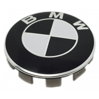 BMW fekete 68mm felni kupak 1db