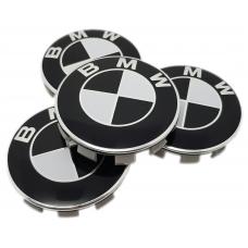 BMW fekete 68mm felni kupak 4db