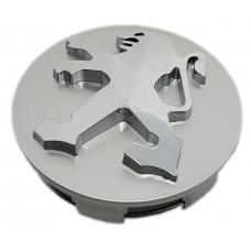 Peugeot 60mm ezüst felni kupak 1db
