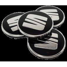 Seat 55mm fekete felni kupak 4db