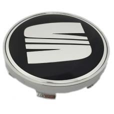 Seat 60mm fekete felni kupak 1db