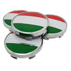 Piros, fehér, zöld 60mm felni kupak 4db