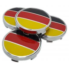Fekete Piros sárga 60mm felni kupak 4db